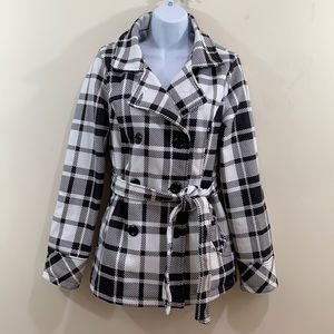 Maralyn & Me Front Button Belted Coat  Size M